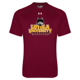 Under Armour Maroon Tech Tee-Primary Mark