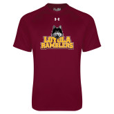 Under Armour Maroon Tech Tee-Loyola Ramblers Stacked