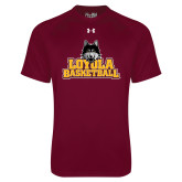 Under Armour Maroon Tech Tee-Basketball
