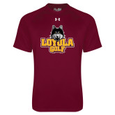 Under Armour Maroon Tech Tee-Golf