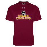 Under Armour Maroon Tech Tee-Track and Field