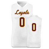 Replica White Adult Basketball Jersey-#0