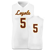 Replica White Adult Basketball Jersey-#5