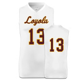 Replica White Adult Basketball Jersey-#13