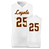 Replica White Adult Basketball Jersey-#25
