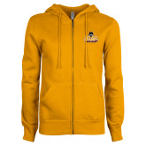 ENZA Ladies Gold Fleece Full Zip Hoodie-Primary Mark