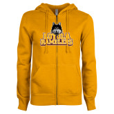 ENZA Ladies Gold Fleece Full Zip Hoodie-Loyola Ramblers Stacked
