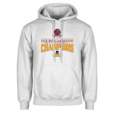 White Fleece Hoodie-2018 Regular Season Mens Basketball