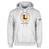 White Fleece Hoodie-Retro Ramblers Collections