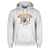 White Fleece Hoodie-Sister Jean 100th Birthday