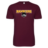 Next Level SoftStyle Maroon T Shirt-Ramblers w/ Mascot