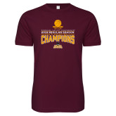 Next Level SoftStyle Maroon T Shirt-2018 Regular Season Mens Basketball