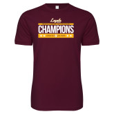 Next Level SoftStyle Maroon T Shirt-Underdog Champs