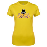 Ladies Syntrel Performance Gold Tee-Loyola Ramblers Stacked