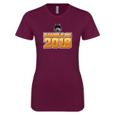 Next Level Ladies SoftStyle Junior Fitted Maroon Tee-Ramble On