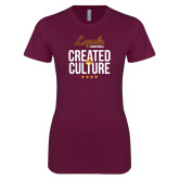 Next Level Ladies SoftStyle Junior Fitted Maroon Tee-Created by Culture