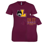 Next Level Ladies SoftStyle Junior Fitted Maroon Tee-L Mark