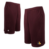Russell Performance Maroon 10 Inch Short w/Pockets-L Mark