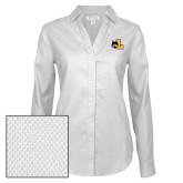 Ladies Red House Diamond Dobby White Long Sleeve Shirt-L Mark