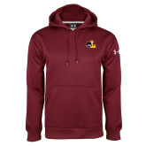 Under Armour Maroon Performance Sweats Team Hood-L Mark