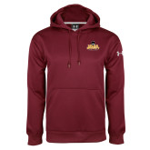 Under Armour Maroon Performance Sweats Team Hood-Primary Mark