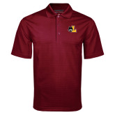 Maroon Mini Stripe Polo-L Mark