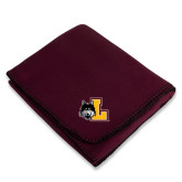Maroon Arctic Fleece Blanket-L Mark