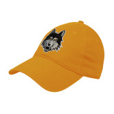 Gold Twill Unstructured Low Profile Hat-Mascot