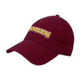 Maroon Twill Unstructured Low Profile Hat-Ramblers