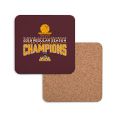 Hardboard Coaster w/Cork Backing-2018 Regular Season Mens Basketball