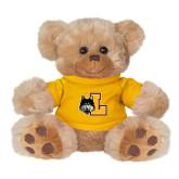 Plush Big Paw 8 1/2 inch Brown Bear w/Gold Shirt-L Mark