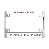 Metal Motorcycle License Plate Frame in Chrome-Ramblers