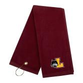 Maroon Golf Towel-L Mark
