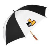 62 Inch Black/White Vented Umbrella-L Mark