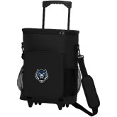30 Can Black Rolling Cooler Bag-Tiger Head