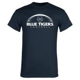 Navy T Shirt-Blue Tigers Football Half Ball