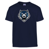 Youth Navy T Shirt-Tiger Head