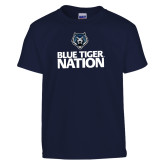 Youth Navy T Shirt-Blue Tiger Nation