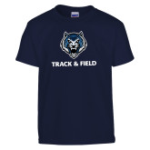 Youth Navy T Shirt-Track & Field