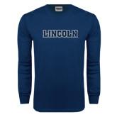 Navy Long Sleeve T Shirt-Lincoln
