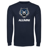 Navy Long Sleeve T Shirt-Alumni