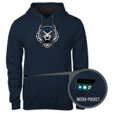 Contemporary Sofspun Navy Heather Hoodie-Tiger Head