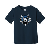 Toddler Navy T Shirt-Tiger Head
