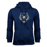 Navy Fleece Hoodie-Tiger Head