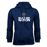 Navy Fleece Hoodie-Blue Tiger Nation