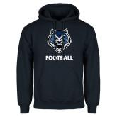 Navy Fleece Hoodie-Football