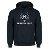 Navy Fleece Hoodie-Track & Field