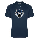 Under Armour Navy Tech Tee-Tiger Head
