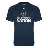 Under Armour Navy Tech Tee-Blue Tiger Nation