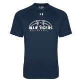 Under Armour Navy Tech Tee-Blue Tigers Basketball Half Ball